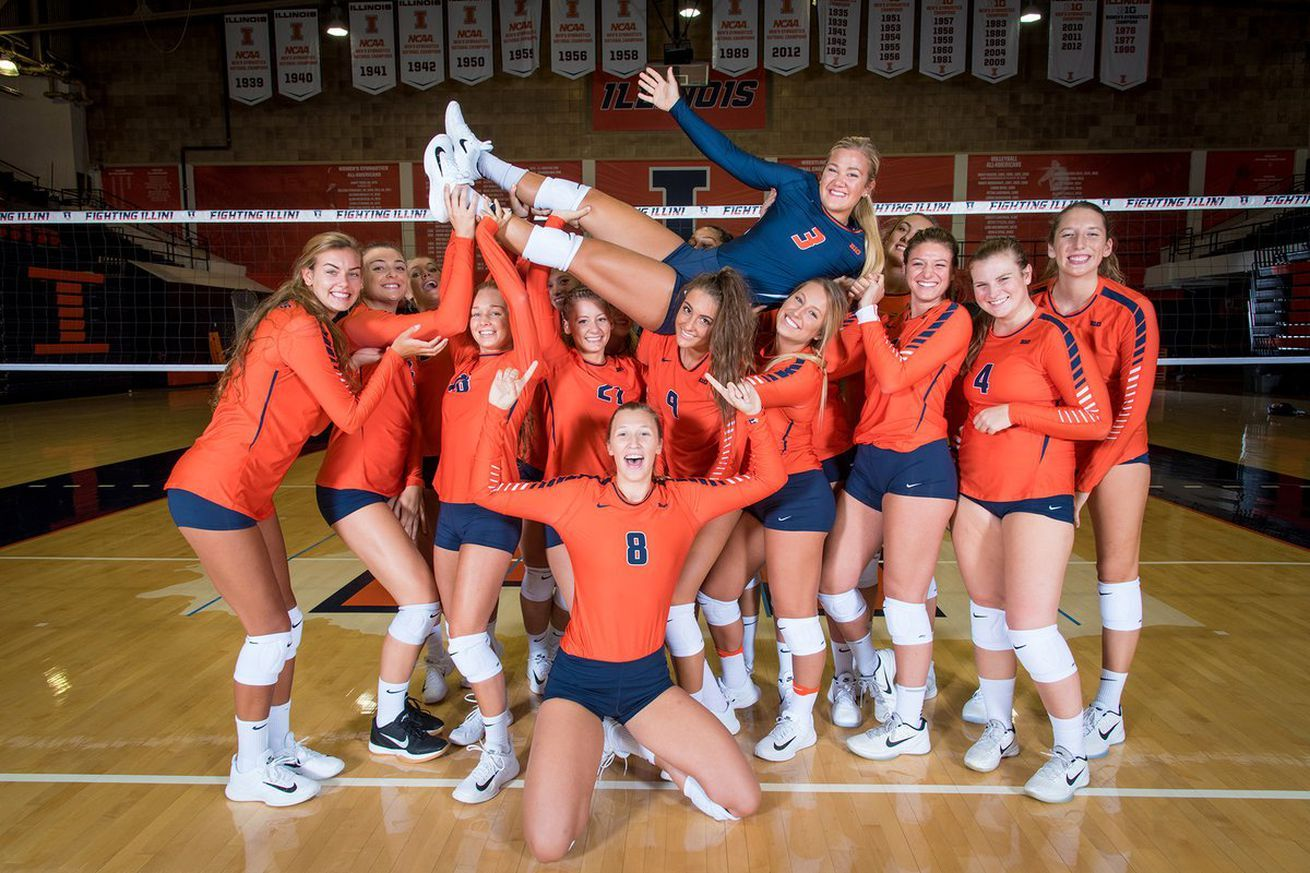 Illinois Volleyball Heads Into Ncaa Tournament After Strong Season Volleyball Ncaa Tournament Volleyball Pictures