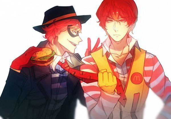 Mcdonald And Sanders Anime Version Anime Wendy Anime