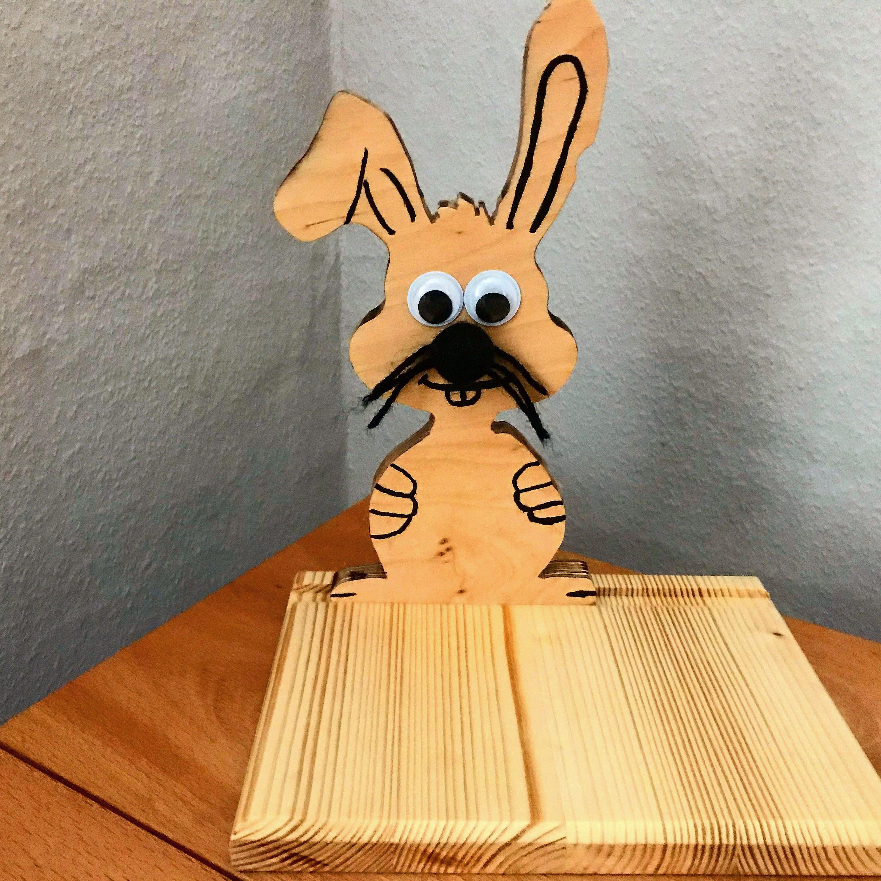 Dekorativen Osterhasen Aus Holz Selber Basteln   Tinker A Decorative Easter  Bunny