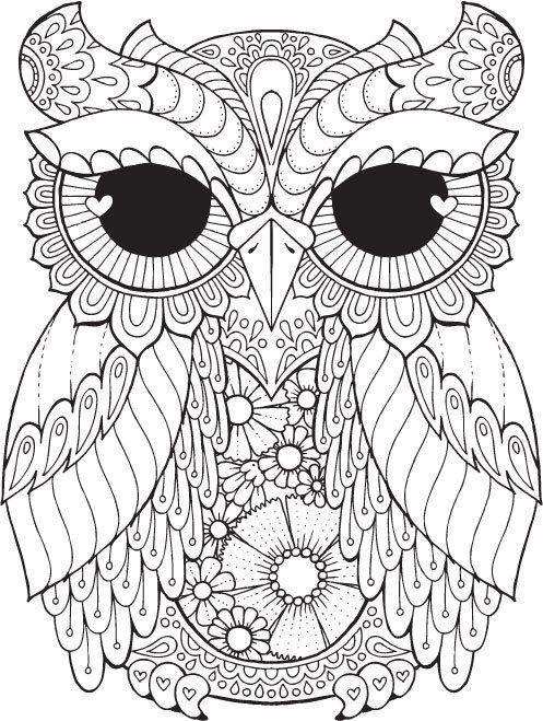 сова раскраска 497 659 Kleurplaten Pinterest Eule
