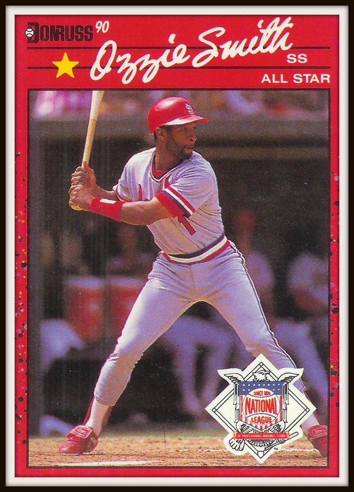 1990 Donruss 710 Ozzie Smith National League All Star Card Mint Baseball Cards Old Baseball Cards National Baseball League