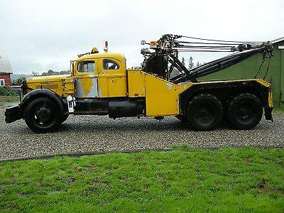 1952 White Diesel Wrecker Holmes 850 Integral Sleeper 40 Ton Vintage Tow Truck Tow Truck Diesel Trucks Trucks