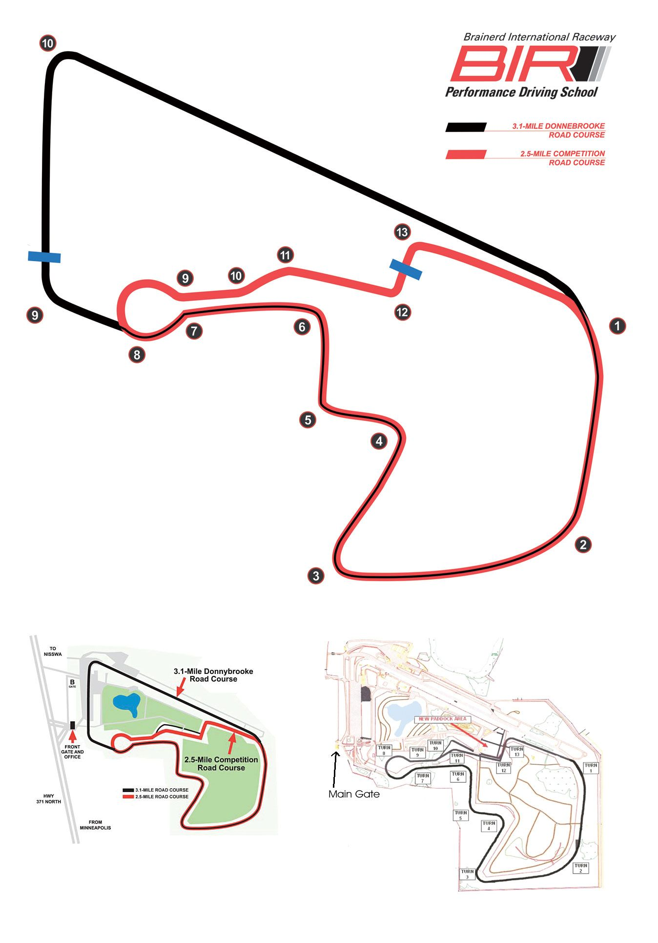 hight resolution of brainerd international raceway track map