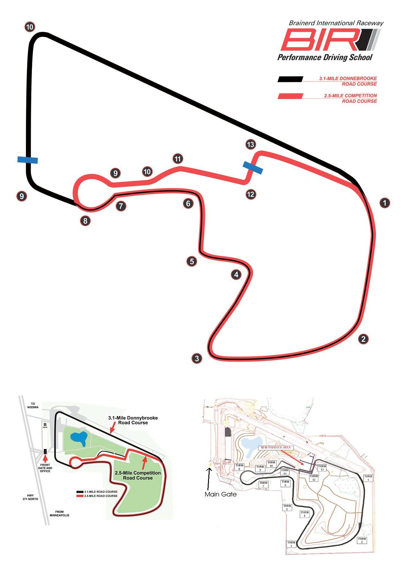 small resolution of brainerd international raceway track map