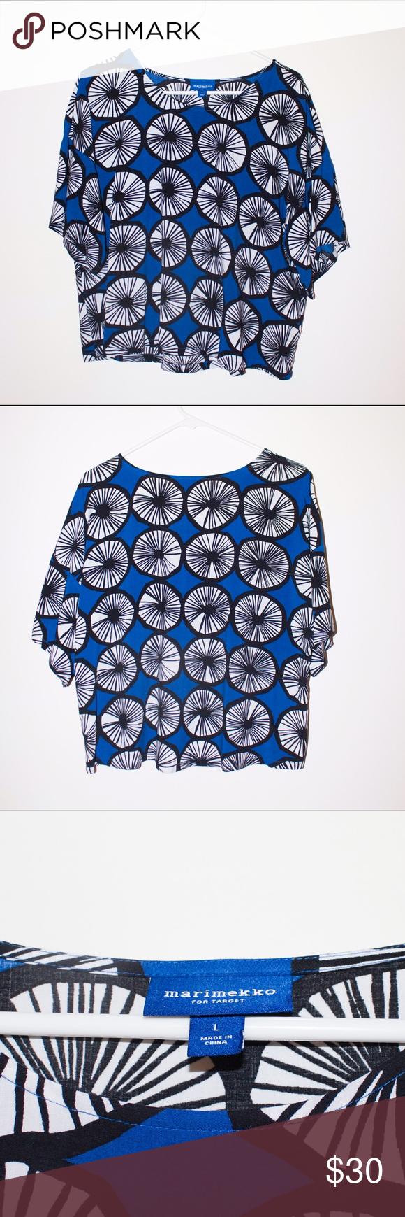 Marimekko mod pattern boxy shirt Exclusive style that is
