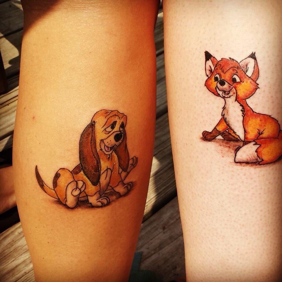 Pin By Thewonderfulworldofdisneytatto On Fox And The Hound Best Friend Tattoos Friend Tattoos Disney Tattoos