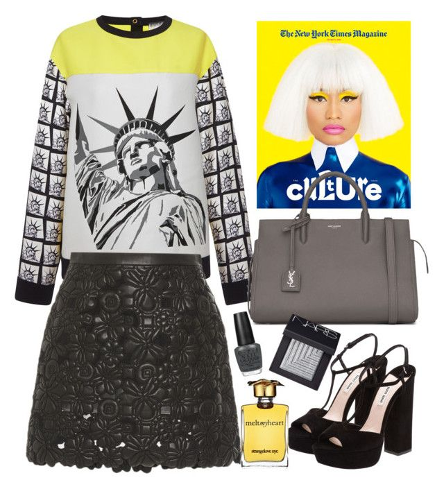 """""""Fausto Puglisi jumper"""" by thestyleartisan ❤ liked on Polyvore featuring FAUSTO PUGLISI, Elie Saab, Yves Saint Laurent, Miu Miu, NARS Cosmetics, OPI, Strangelove NYC, Newyork and newyorkfashionweek"""