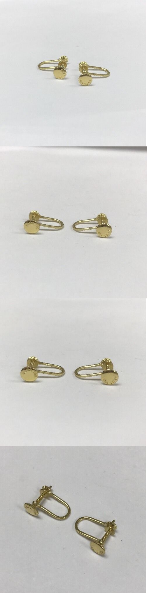 Other Fine Jewelry 505 Tiffany And Co 18k Non Pierced Omega Clip Back Earrings