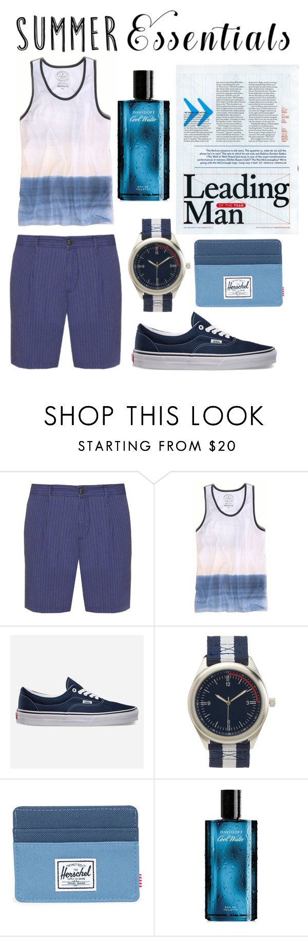 """Untitled #302"" by rockabillygypsy ❤ liked on Polyvore featuring J.W. Brine, American Eagle Outfitters, Vans, Aéropostale, Herschel Supply Co., Davidoff, men's fashion, menswear and summermenswearessentials"