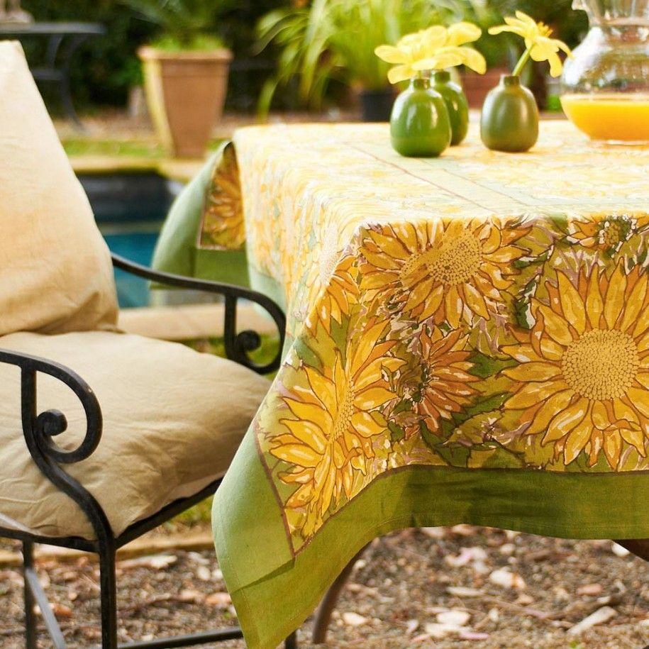 Sunflower Decor | ... Yellow Sunflower Tablecloth Simple Sunflower ...