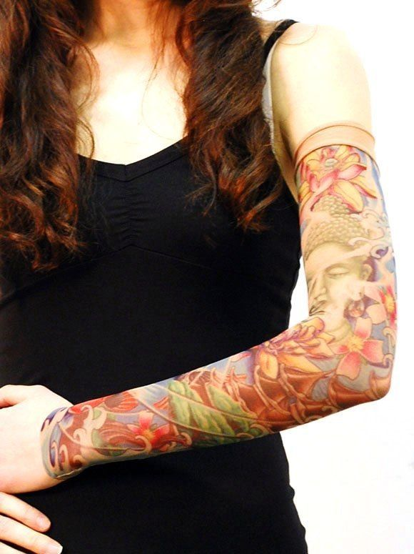 Sugar Skull Snake Sunflower Wild Rose Baby Girls Tattoo Sleeve Shirt Pink