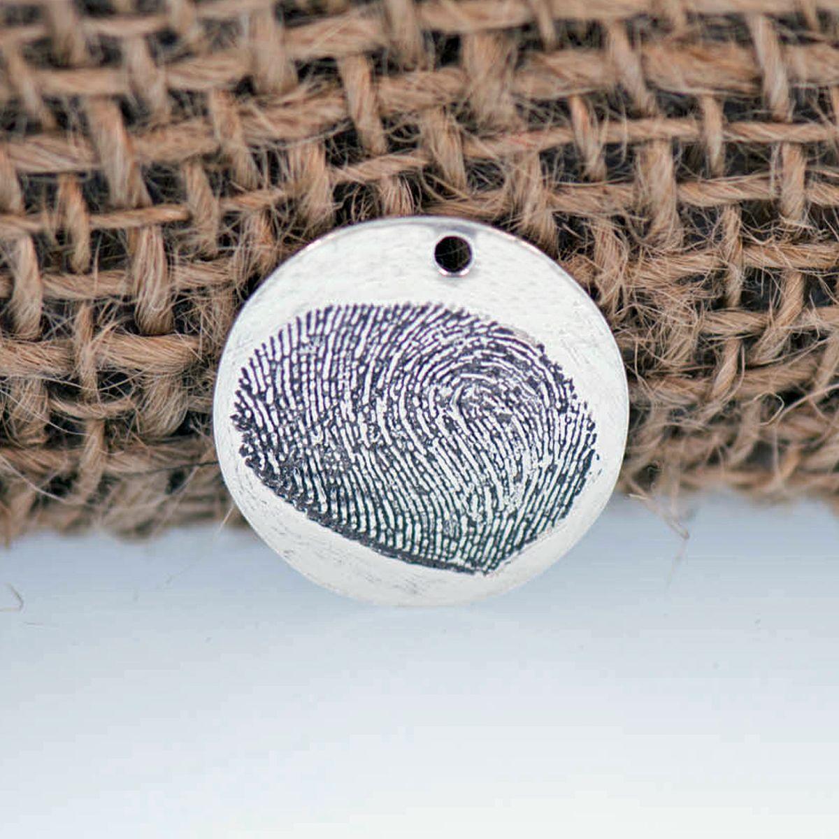 Fingerprint Stamp 20mm 3 4in Metal Clay Discount Supply