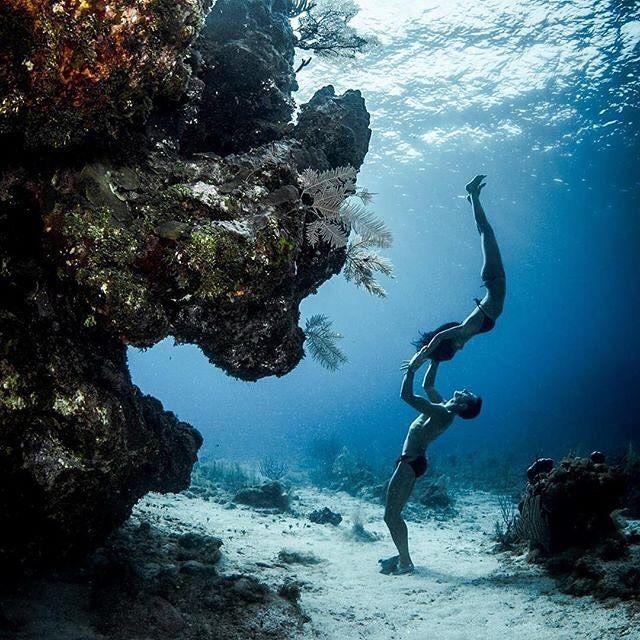 Beautiful Places Underwater: Sometimes #freediving Is Like Dancing Underwater
