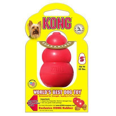 Kong Refillable Classic Chew Dog Toy S Dog Toys Kong Dog Toys