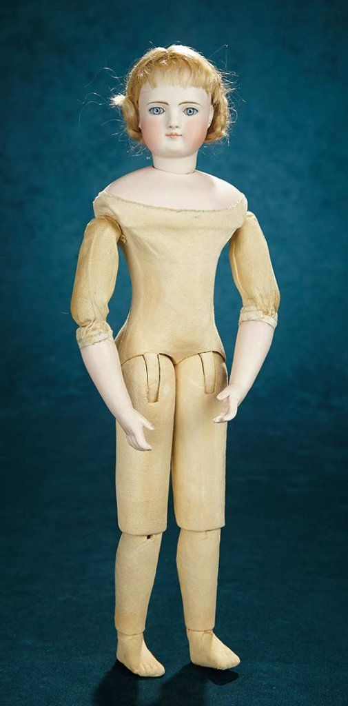 Beautiful and Rare German Bisque Fashion Doll by Simon and Halbig with Twill-Body 3500/5500