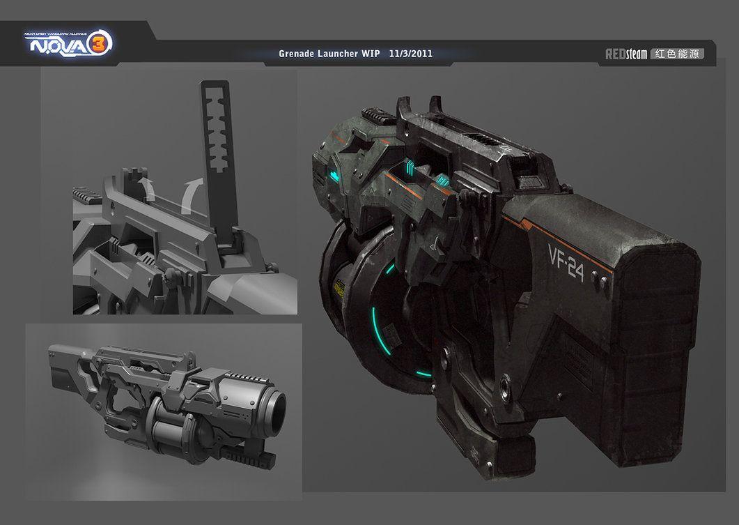 Grenade launcher by sobaku-chiuchiu | guns | Concept weapons