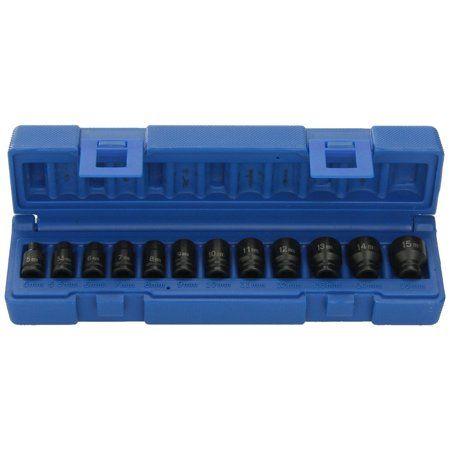 """Grey Pneumatic 1213SD 3//8/"""" Dr.SAE 12 Piece Semi-Deep Socket Set"""