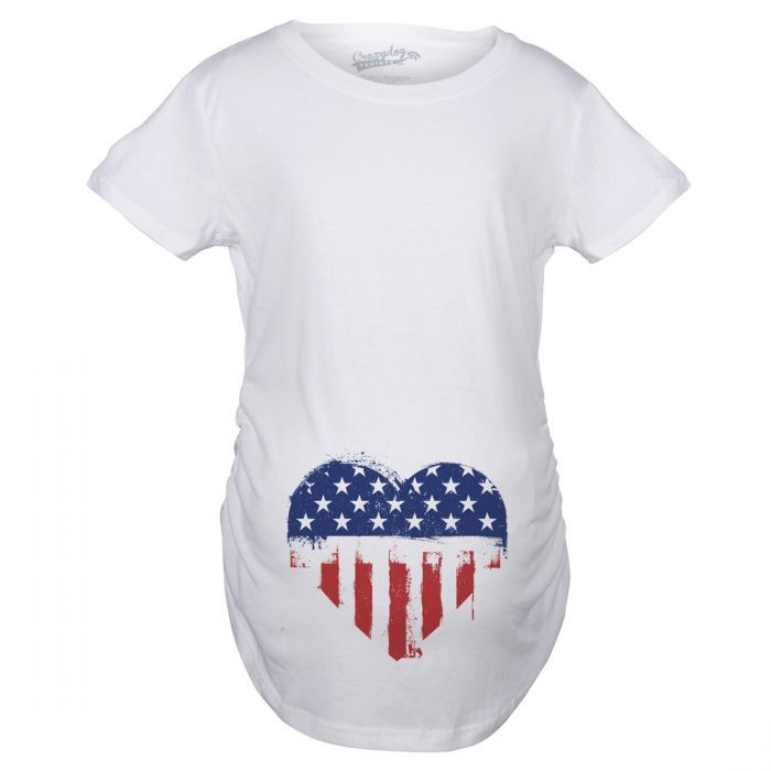 aabf1e5802969 American pride maternity t shirts. USA flag pregnancy tee for your baby bump .