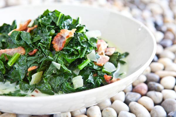 Kale And Bacon Caribbean Style Recipe Kale Recipes Kale Recipes Healthy Veggie Recipes