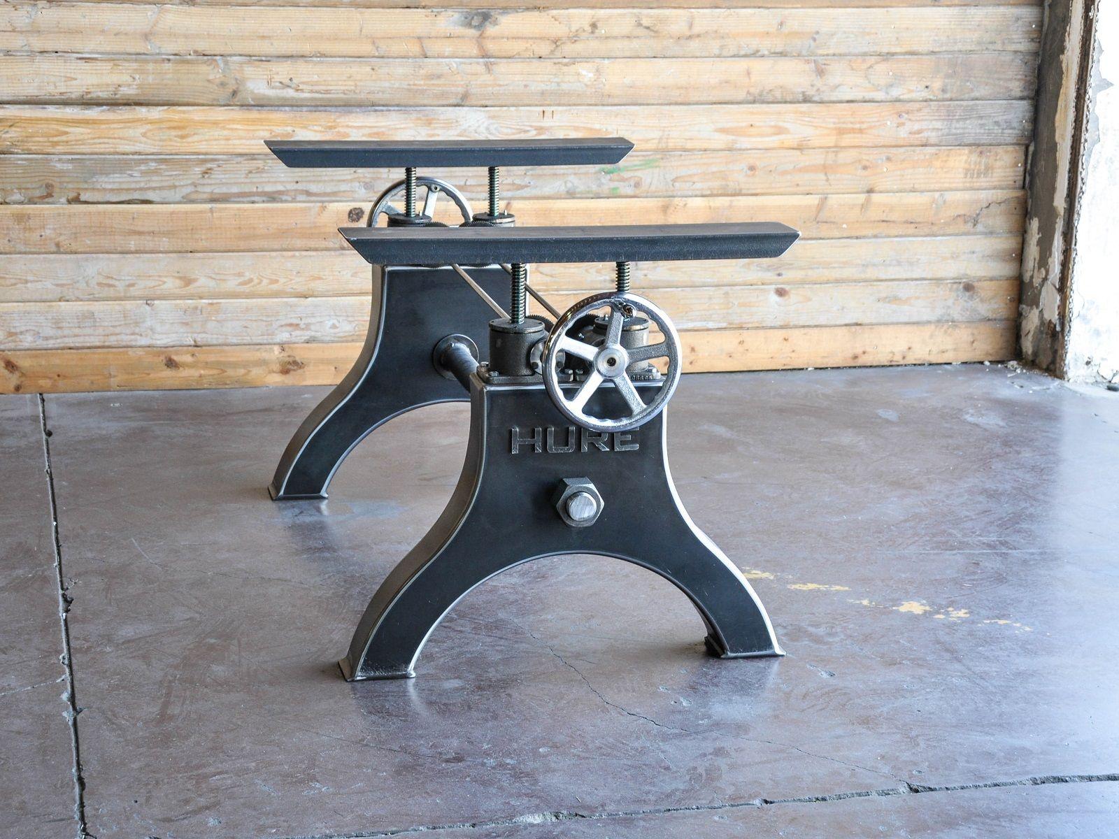 Hure Crank Table Base | Vintage Industrial Furniture