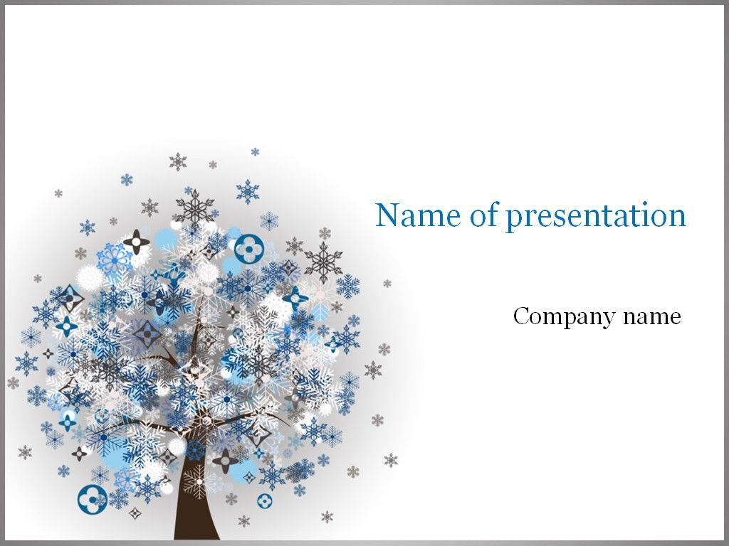 Winter Tree Powerpoint Template  Templates