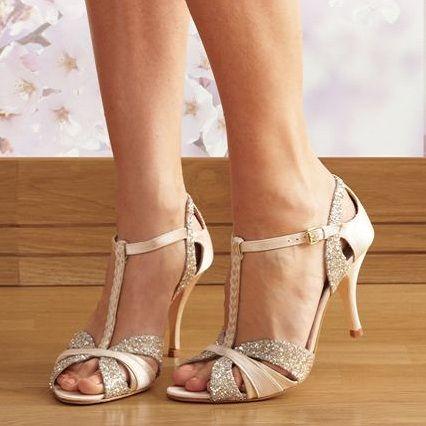 Love Art Wear Scarlett Cream Wedding Shoes Crystal Bridal Accessories