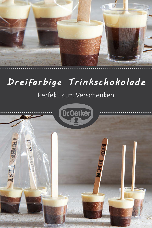 Dreifarbige Trinkschokolade am Stiel | Rezept in 2019 | Geschenke ...