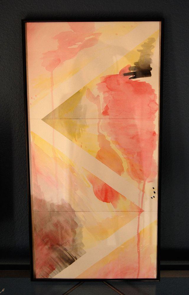 Diy abstract watercolor art keeping change diy for Diy watercolor abstract art
