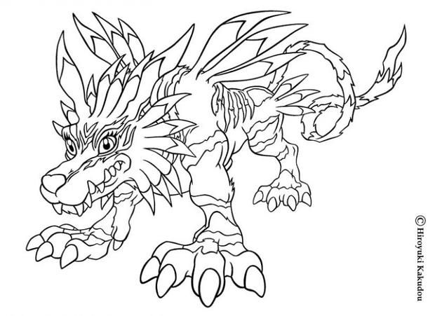 There Is A New Garurumon In Coloring Sheets Section Check It Out