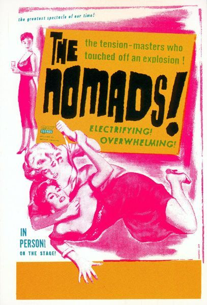 Art Chantry gig poster The Nomads Imagems