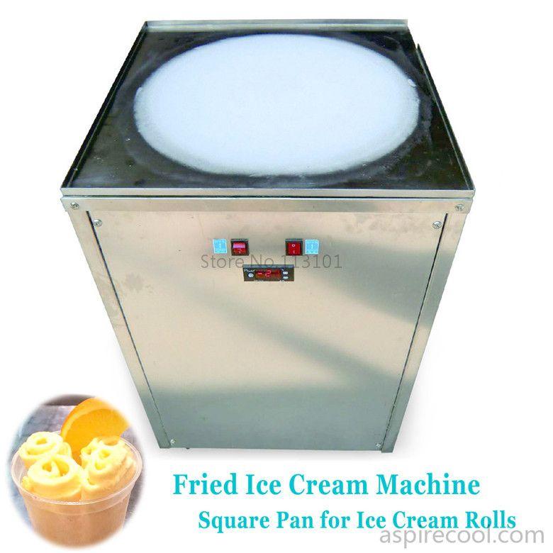 Ice Cream Rolls Making Machine Fried Ice Cream Maker Machine With