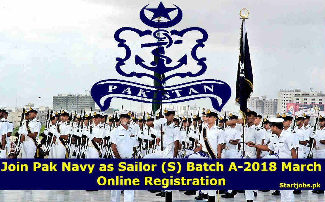 Join Pak Navy as Sailor (S) Batch C2019 Online