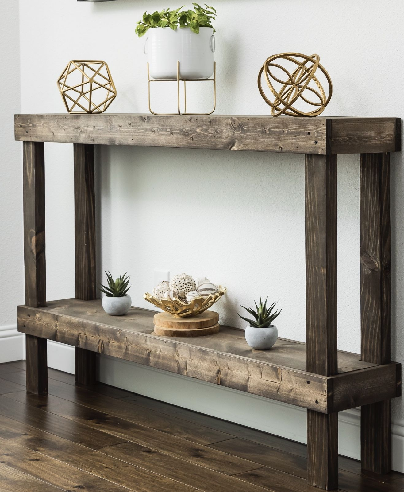 Woven Paths Dark Walnut Large Rustic Luxe Wooden Sofa Table Walmart Com In 2021 Rustic Console Tables Sofa Table Decor Wood Console Table
