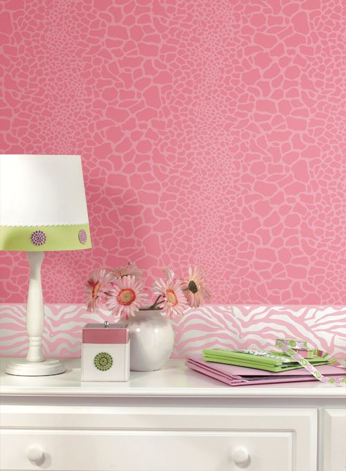 Pink Animal Print wallpaper. Wallcoverings For Less: Wild ...
