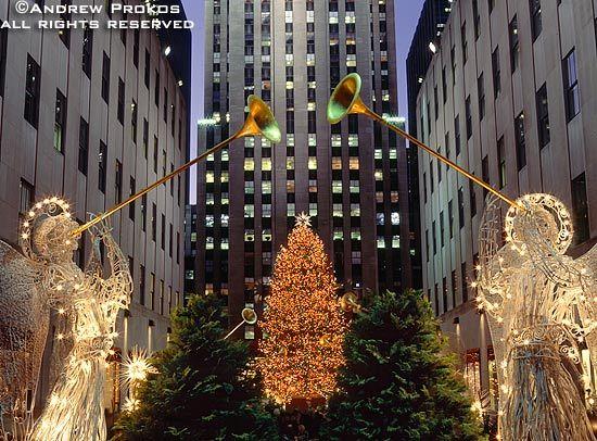 Rockefeller Center Christmas Angels I - Fine Art Print + Stock Image - Rockefeller Center Photography