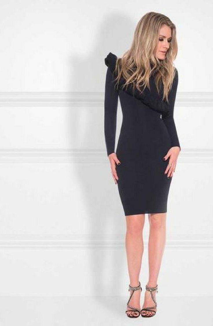 Korte jurk met col