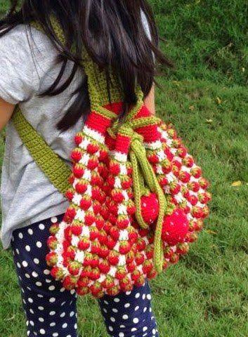 Delicadezas en crochet Gabriela: Esquema de punto fresa en crochet ...