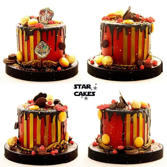 Harry Potter Gryffindor Drip Cake