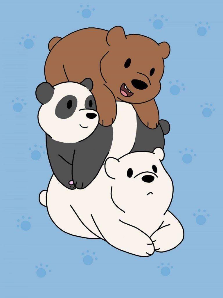We Bare Bears Wallpaper We Bare Bears Wallpapers 4k Hd Iphone 6 Plus Clixster Wallpaper Kartun Lucu Ilustrasi Karakter Wallpaper Lucu