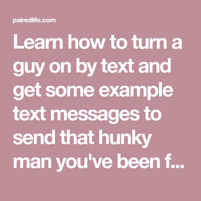 I need help sexting my boyfriend.