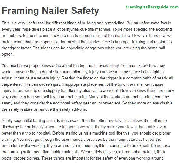 Framing nailer/nail gun safety | Nail Gun Safety | Pinterest | Nail gun