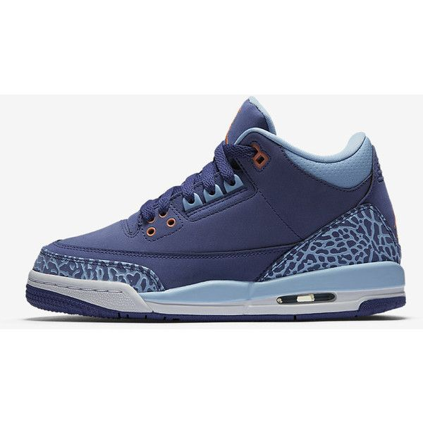 new styles c1909 985a1 Air Jordan 3 Retro (3.5y-7y) Kids  Shoe. Nike.com ( 140) ❤ liked on  Polyvore featuring shoes and jordans