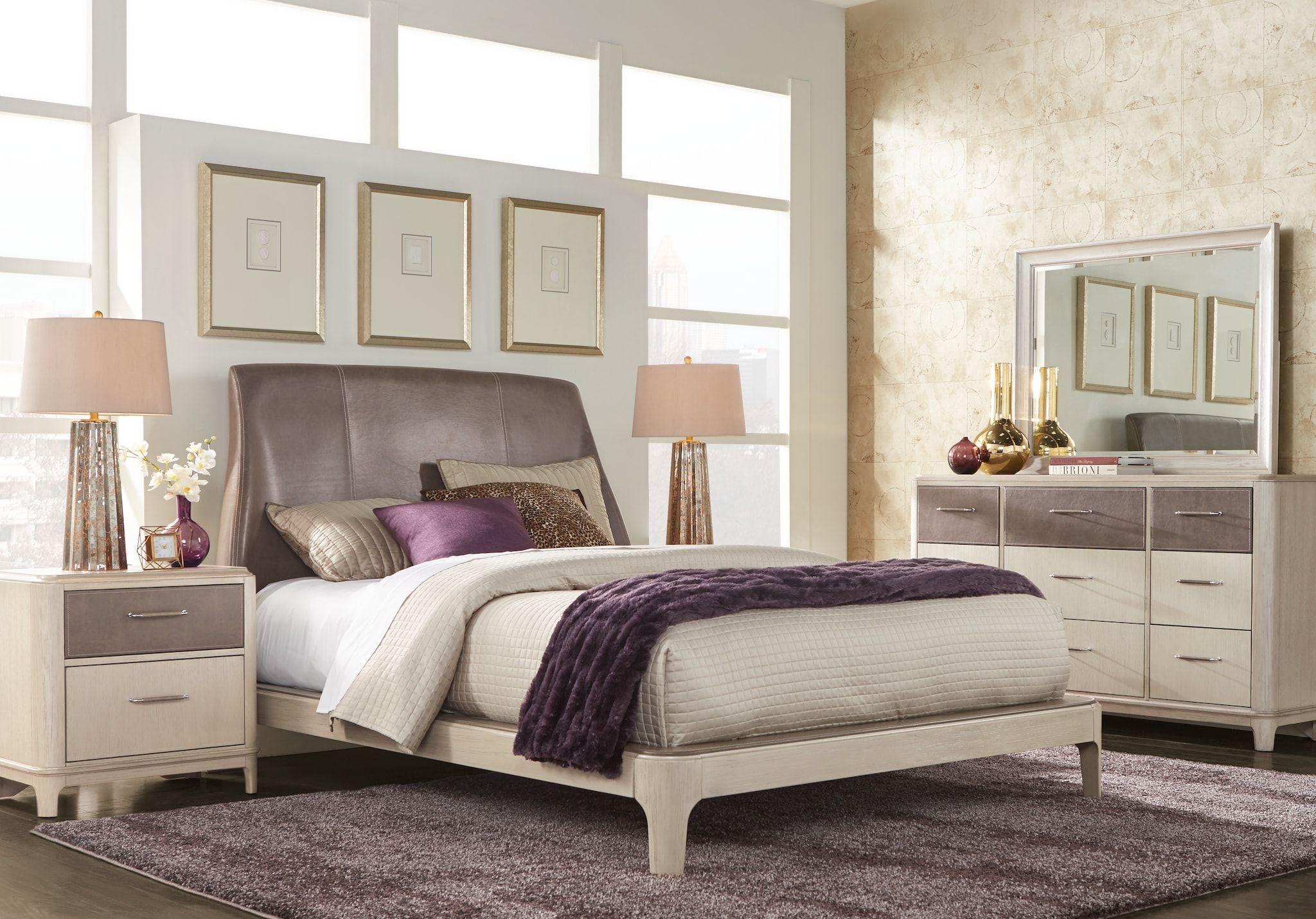 queen upholstered bedroom sets for sale: 5 & 6-piece