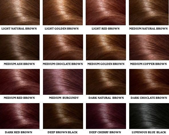 Health  Hair Dye Can Cause Cancer  Colour Chart Hair Coloring