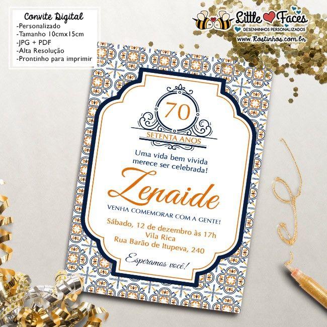 3500 Convite Aniversário Azulejo Português Para Imprimir Niver