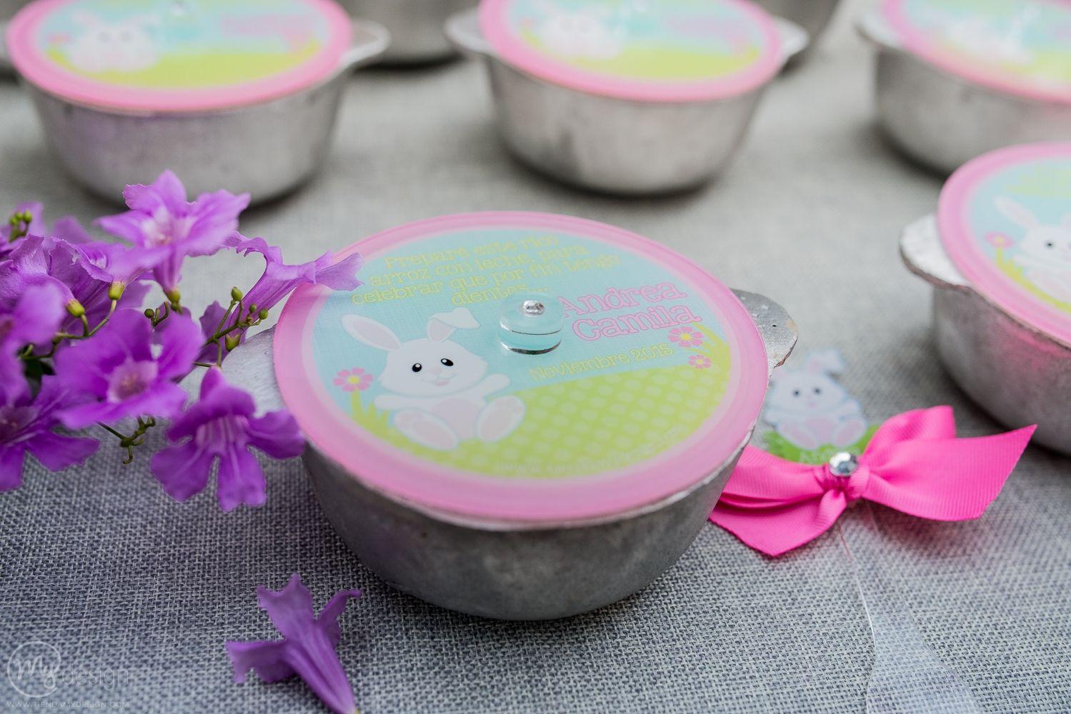 Calderito de arroz con leche para celebrar el Primer Diente -  http://tiendamydesign.com/panama/calderito-arroz-leche-celebrar-primer-diente
