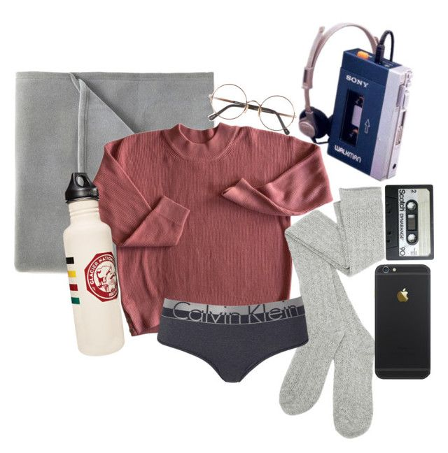 """""""sleepy"""" by eden-kolb on Polyvore featuring Vellux, Calvin Klein, Sunday Somewhere and Dot & Bo"""