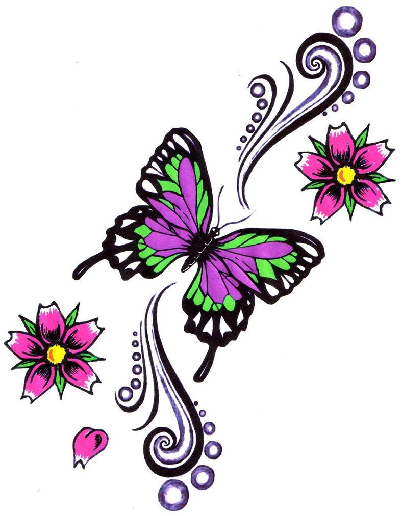 Butterfly star tattoo designs - Flowers Tattoos Cliparts Co