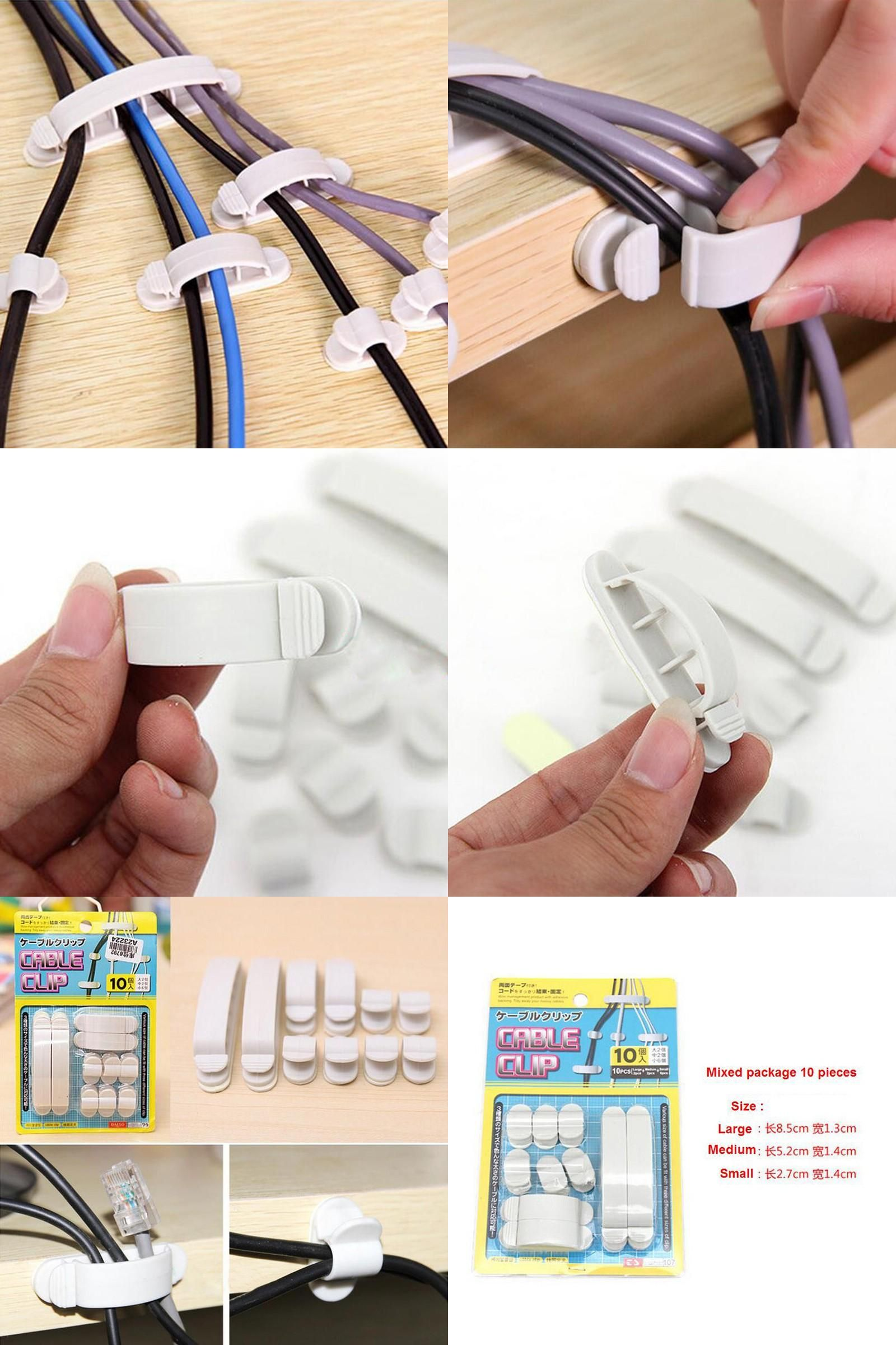 Visit to Buy] Wire Line Organizer Plastic Clips Ties Fixer Fastener ...