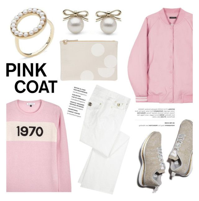 """""""Hey, Girl: Pretty Pink Coats"""" by littlehjewelry ❤ liked on Polyvore featuring Bella Freud, Roberto Cavalli, Clare V., contestentry, pinkcoats, pearljewelry and littlehjewelry"""